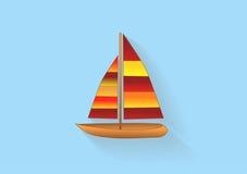 Icona della barca a vela Immagine Stock Libera da Diritti