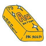 Icona della barra di Aurum, stile disegnato a mano royalty illustrazione gratis