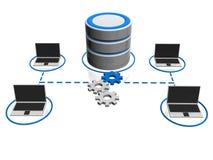Icona della base di dati Fotografia Stock