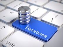 Icona della base di dati sulla tastiera di computer Immagini Stock Libere da Diritti