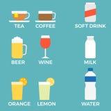 Icona della bevanda con il nome Immagine Stock
