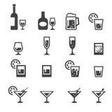 Icona della bevanda dell'alcool Fotografia Stock