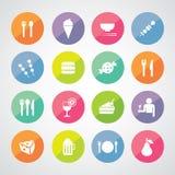 Icona della bevanda e dell'alimento immagine stock