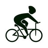 Icona della bici su bianco Immagini Stock