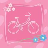 Icona della bicicletta Fotografia Stock