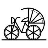 Icona della bicicletta della Cina illustrazione di stock