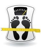 Icona della bilancia pesa-persone per il concetto sano del peso Immagine Stock Libera da Diritti