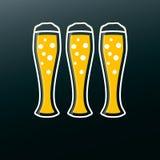 Icona della birra nella progettazione piana moderna Bevanda dell'alcool Fotografia Stock Libera da Diritti