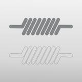 Icona della bobina Immagine Stock Libera da Diritti
