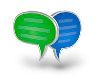 Icona della bolla 3D di chiacchierata Fotografia Stock