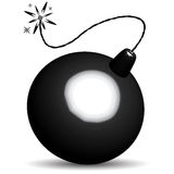 Icona della bomba Fotografia Stock Libera da Diritti