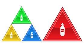 Icona della bombola d'ossigeno, segno, illustrazione Fotografie Stock Libere da Diritti