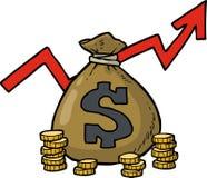 Icona della borsa del dollaro Fotografia Stock