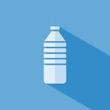 Icona della bottiglia di acqua Fotografia Stock