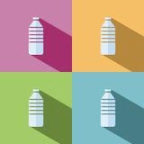 Icona della bottiglia di acqua Fotografia Stock Libera da Diritti