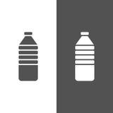 Icona della bottiglia di acqua Fotografie Stock