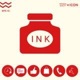 Icona della bottiglia di inchiostro Immagine Stock