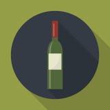 Icona della bottiglia di vino Fotografia Stock Libera da Diritti