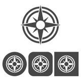 Icona della bussola - icone di vettore messe Fotografia Stock