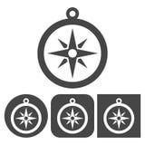 Icona della bussola - icone di vettore messe Immagini Stock Libere da Diritti
