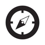 Icona della bussola Illustrazione piana di vettore Fotografie Stock Libere da Diritti