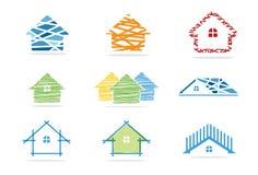 Icona della Camera e logo del bene immobile Fotografia Stock