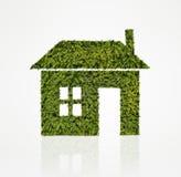 Icona della Camera fatta dell'albero verde Immagine Stock