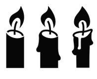 Icona della candela Fotografie Stock Libere da Diritti