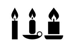 Icona della candela di vettore illustrazione di stock