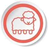 Icona della capra Fotografie Stock Libere da Diritti