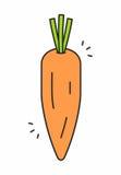 Icona della carota Fotografia Stock Libera da Diritti