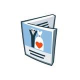 Icona della carta dell'invito di nozze nello stile del fumetto Fotografia Stock Libera da Diritti