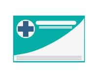 icona della carta di assicurazione-malattia fotografia stock libera da diritti