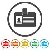 Icona della carta di codice utente, patente di guida dell'automobile, 6 colori inclusi royalty illustrazione gratis