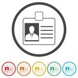 Icona della carta di codice utente, patente di guida dell'automobile, 6 colori inclusi illustrazione vettoriale