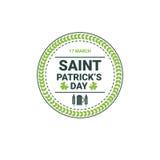Icona della carta di Patrick Day Beer Festival Greeting del san Fotografia Stock Libera da Diritti