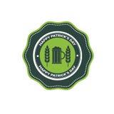 Icona della carta di Patrick Day Beer Festival Greeting del san Immagine Stock Libera da Diritti