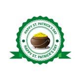 Icona della carta di Patrick Day Beer Festival Greeting del san Fotografie Stock