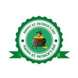 Icona della carta di Patrick Day Beer Festival Greeting del san Fotografia Stock