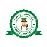 Icona della carta di Patrick Day Beer Festival Greeting del san Immagini Stock Libere da Diritti
