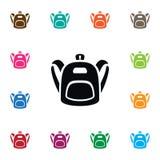 Icona della cartella L'elemento di vettore di Satchel può essere usato per lo zaino, lo zaino, concetto di progetto della borsa Immagine Stock