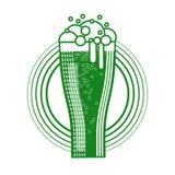 Icona della cartolina d'auguri di Patrick Day Beer Festival Banner del san Fotografie Stock Libere da Diritti