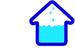 Icona della casa della Camera di inondazione Immagine Stock