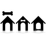 Icona della casa di cane illustrazione di stock