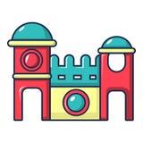 Icona della casa di rimbalzo, stile del fumetto royalty illustrazione gratis