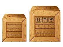 Icona della casella di legno Fotografie Stock