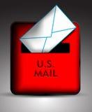 Icona della cassetta delle lettere Fotografie Stock Libere da Diritti