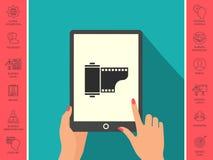 Icona della cassetta della pellicola fotografica Immagine Stock Libera da Diritti