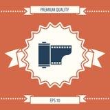Icona della cassetta della pellicola fotografica Fotografia Stock
