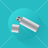 Icona della chiavetta USB Fotografia Stock Libera da Diritti